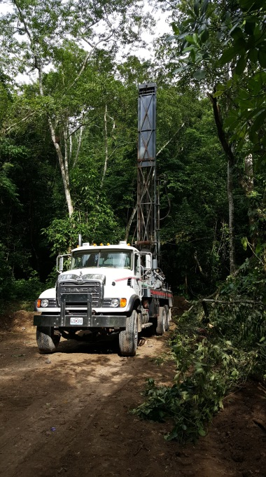 The drilling truck